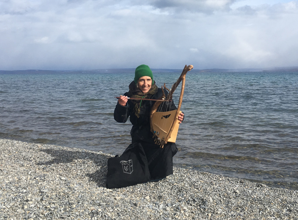 le Guerisson voyageur et la sac Ondioline, Lac Khövsgöl, Mongolie novembre 2017